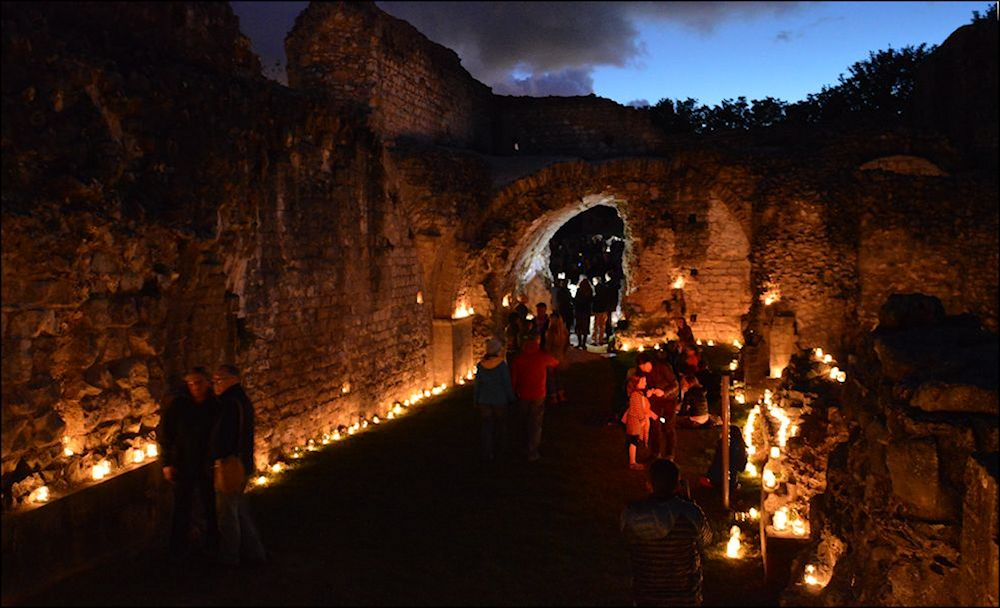 Lewes Priory Ruins By Candlelight